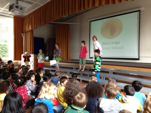 The special assembly run by children at the school.