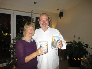Don and Rachael at the December Tin Collection.