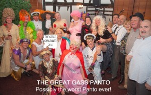 The whole panto cast line up to take their bow